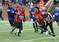 Tampa Bay Buccaneers Linebacker Kwon Alexander during game action, Super Bowl 51 - 16th Annual Celebrity Flag Football Challenge, Rhodes Stadium,  4 Feb 2017, Katy TX.  Red Team Captain Kirk Cousins would lose for the 2nd straight year to Doug Flutie's Blue team by a final score of 40-35.
