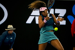January 17, 2019 - Melbourne, VIC, U.S. - MELBOURNE, AUSTRALIA - JANUARY 17 : Naomi Osaka of ÊJapan returns the ball during day 4 of the Australian Open on January 17 2019, at Melbourne Park in Melbourne, Australia.(Photo by Jason Heidrich/Icon Sportswire) (Credit Image: © Jason Heidrich/Icon SMI via ZUMA Press)