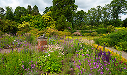 Walled garden at NTS Geilston Garden in Cardross, Argyll and Bute, Scotland, UK