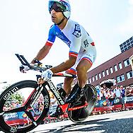 04-07-2015: Wielrennen: Grande Depart: Tour de France: Utrecht<br /> <br /> Imanol ERVITI<br /> <br /> De 1e etappe van de Tour de France van 2015 was een individuele tijdrit van 13,8 kilometer. De start en finish zijn bij de Jaarbeurs in Utrecht