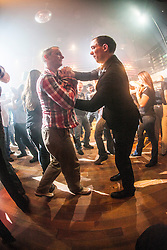 Students work with a hand grip. IKMS 'In The Club' seminar with KMG Global Team Instructor and Expert Level 5, Tommy Blom, at the Buff Club in Glasgow's City Centre. Bringing Krav Maga training out with the confines of the gym into a real nightclub/bar.<br /> &copy; Michael Schofield.