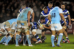 Nathan Catt of Bath Rugby in possession - Photo mandatory by-line: Patrick Khachfe/JMP - Mobile: 07966 386802 15/11/2014 - SPORT - RUGBY UNION - Bath - Recreation Ground - Bath Rugby v Newcastle Falcons - Aviva Premiership