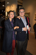 HINDA ARON; SIMON ARON, The preview of LAPADA Art and Antiques Fair. Berkeley Sq. London. 21 September 2015.