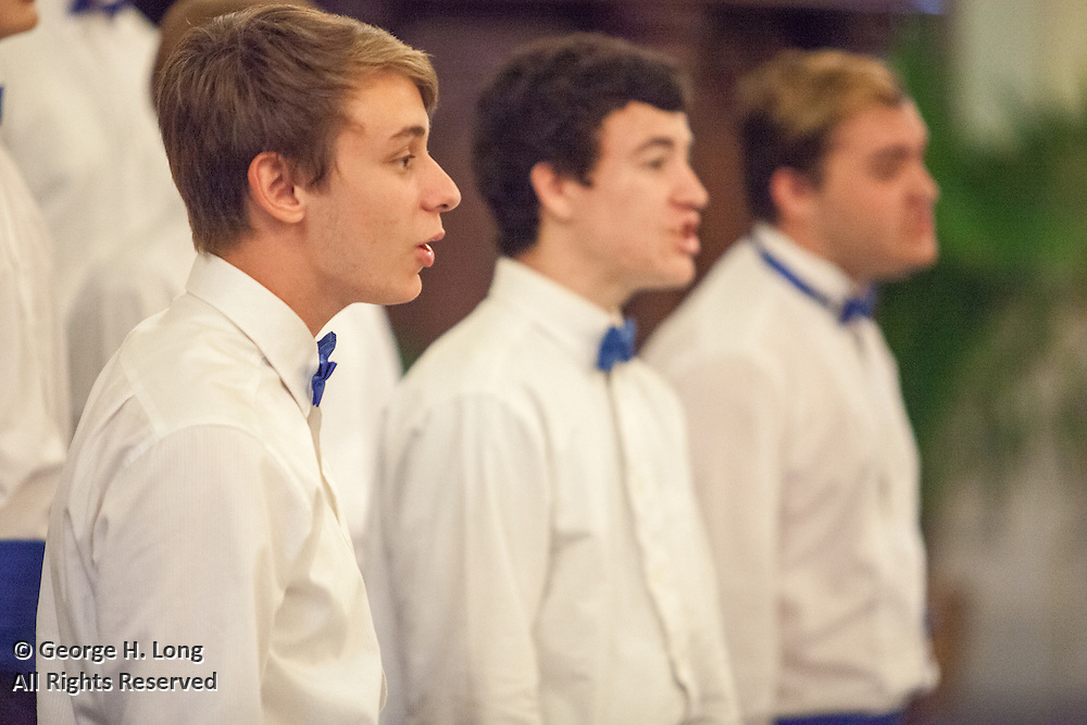 performance by Northshore High School choirs conducted by Nathan Sumrall at St. Louis Cathedral in the French Quarter of New Orleans on May 1, 2015
