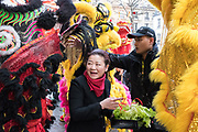 France, PARIS, 28 January 2017. Chinese New Year's parade in Arts et Métiers area.