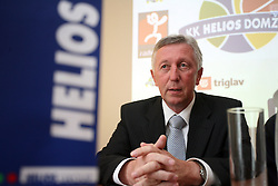 Uros Slavinec, general manager of Helios and president of the club at press conference of KK Helios Domzale before new season 2008/2009 in NLB league and Slovenian National Championship,  on September 18, 2008 in Hotel Ambient, Domzale, Slovenia. (Photo by Vid Ponikvar / Sportal Images)