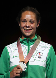 Northern Ireland's Carly McNaul celebrates taking silver in the Women's Flyweight Final at Oxenford Studios during day ten of the 2018 Commonwealth Games in the Gold Coast, Australia.