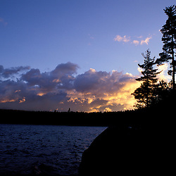 Third Debsconeag Lake, ME. The sun rises in Maine's Northern Forest.