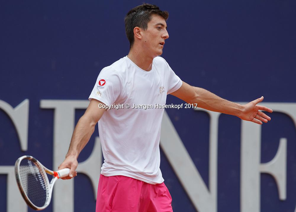 SEBASTIAN OFNER (AUT) reagiert veraergert,Frust,Emotion,<br /> <br /> Tennis - Generali-Kitzbuehel-Open2017 - ATP 250 -  Kitzbuehler Tennis Club - Kitzbuehel - Tirol - Oesterreich  - 2 August 2017. <br /> &copy; Juergen Hasenkopf