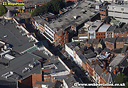 aerial photograph of  Friargate  Preston  Lancashire , England UK
