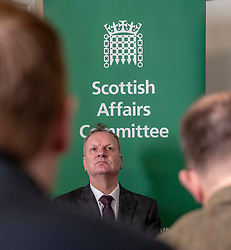 Pictured: Pete Wishart<br /> Today at the Crew 2000 offices in Edinburgh, the chair of the Scottish Affairs Committee Pete Wishart MP launched an inquiry into drug misuse in Scotland.  He was joined by members of his committee, Tommy Shephard (SNP), Danielle Rowley MP (Labour) and Christine Jardine (Lib Dem)<br /> <br /> <br /> Ger Harley | EEm 4 March 2019