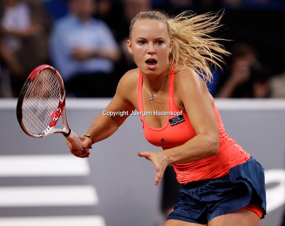 Porsche Cup 2011 in Stuttgart, internationales WTA Damen Tennis Turnier, Porsche Arena, Einzel Finale, Caroline Wozniacki (DEN),action,Einzelbild,