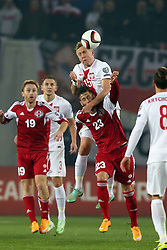 14.11.2014, Boris Paitschadse Nationalstadion, Tiflis, GEO, UEFA Euro Qualifikation, Georgien vs Polen, Gruppe D, im Bild KAMIL GLIK LEVAN MCHEDLIDZE // during the UEFA EURO 2016 Qualifier group D match between Georgia and Poland at the Boris Paitschadse Nationalstadion in Tiflis, Georgia on 2014/11/14. EXPA Pictures &copy; 2014, PhotoCredit: EXPA/ Newspix/ Piotr Kucza<br /> <br /> *****ATTENTION - for AUT, SLO, CRO, SRB, BIH, MAZ, TUR, SUI, SWE only*****