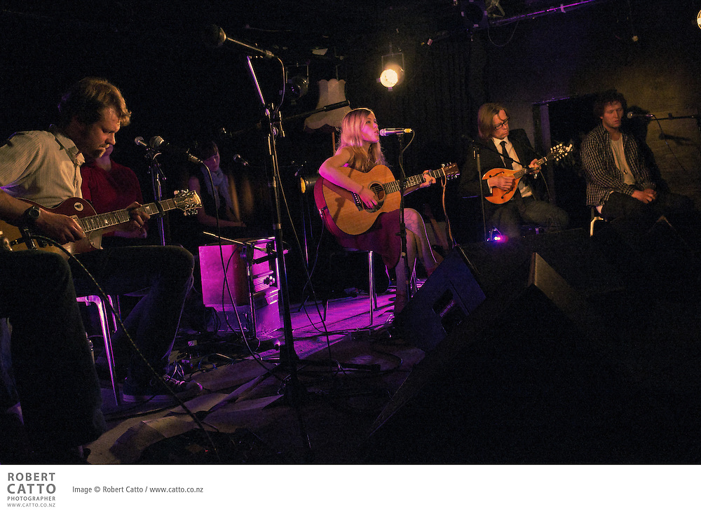 Singer / songwriter Jess Chambers launched her album 'Desire' at the San Fran Bath House in Wellington, New Zealand.