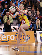 Camilla Lees controls the ball for the Pulse.<br /> ANZ Championship - Steel v Pulse, 28 May 2012, The Edgar Centre, Dunedin, New Zealand.<br /> Photo: Rob Jefferies / photosport.co.nz