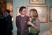 SYLVAIN BUFFILE; CATHERINE WARREN, An exhibition of watercolours by William Rayner at Mallet's, New Bond St. Party afterwards at Bellami's, bruton Place. London. 16 June 2010. .-DO NOT ARCHIVE-© Copyright Photograph by Dafydd Jones. 248 Clapham Rd. London SW9 0PZ. Tel 0207 820 0771. www.dafjones.com.