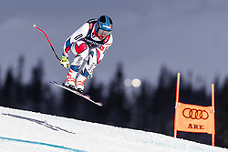11.02.2019, Aare, SWE, FIS Weltmeisterschaften Ski Alpin, alpine Kombination, Herren, Abfahrt, im Bild Maxence Muzaton (FRA) // Maxence Muzaton of France in action during the Downhill competition of the men's alpine combination for the FIS Ski World Championships 2019. Aare, Sweden on 2019/02/11. EXPA Pictures © 2019, PhotoCredit: EXPA/ Johann Groder