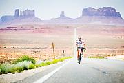 Mexican Hat, UTAH, USA, 20130613:. Dag 3 av RAAM, Race Across America. Foto: Ørjan F. Ellingvåg