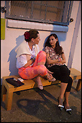 CHARLOTTE PHILLIPS; CANDIDA GERTLER, Matt's Gallery 35th birthday fundraising supper.  42-44 Copperfield Road, London E3 4RR. 12 June 2014.