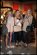GEORGIA TOFFOLO, LILY GRAY & TESSA CLARK  (L to R) at the preview of LAPADA Art and Antiques Fair. Berkeley Sq. London. 23 September 2014.