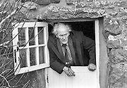 PIC BY HOWARD BARLOW..POET - RS THOMAS at his home on the LLYN PENINSULA, SARN 1993