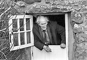 PIC BY HOWARD BARLOW..POET - RS THOMAS at his home on the LLYN PENINSULA, SARN 1993
