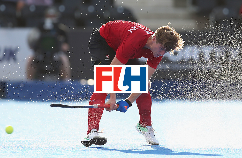 LONDON, ENGLAND - JUNE 16:  Foris Van Son of Canada scores their fourth goal during the Hero Hockey World League Semi-Final Pool B match between Pakistan and Canada at Lee Valley Hockey and Tennis Centre on June 16, 2017 in London, England.  (Photo by Alex Morton/Getty Images)