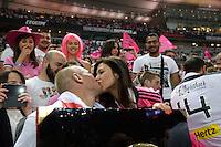 Sergio PARISSE et sa compagne Alexandra ROSENFELD  - 16.05.2015 - Clermont / Stade Francais - Finale Top 14<br />Photo : Nolwenn Le Gouic / Icon Sport