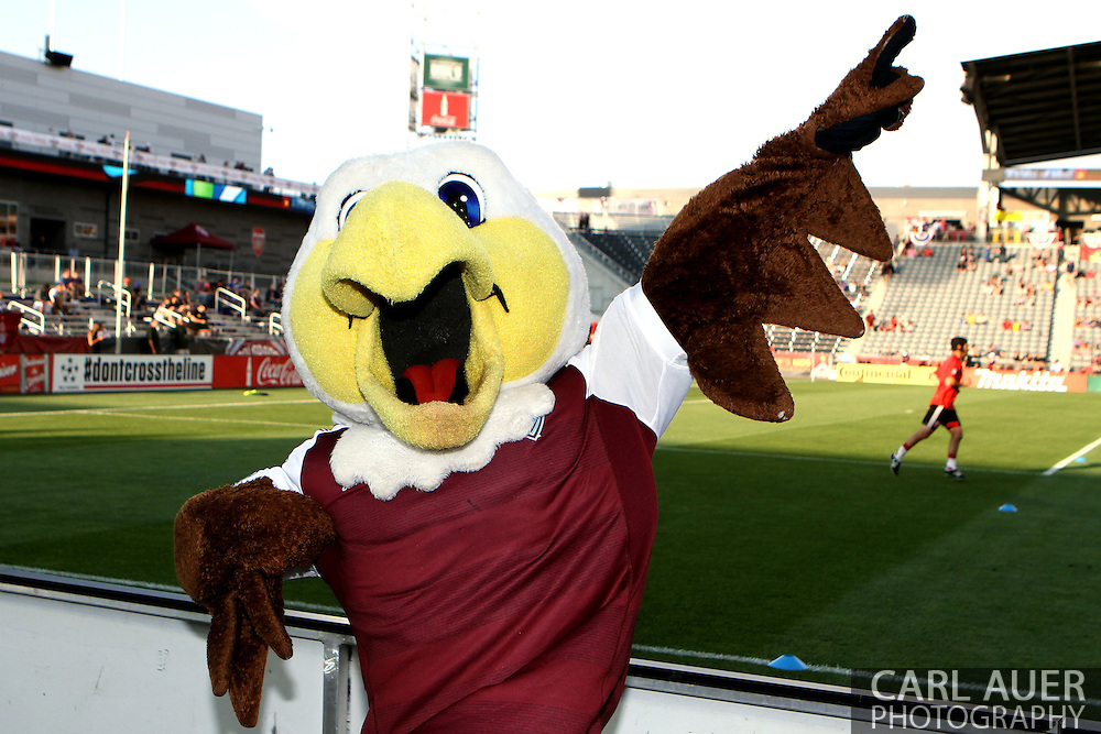 July 7th, 2013 - Edson the Eagle poses prior to the start of the Major League Soccer match between D.C. United and the Colorado Rapids at Dick's Sporting Goods Park in Commerce City, CO