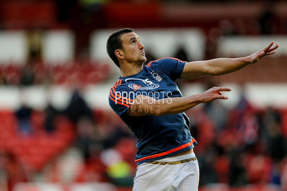 Nottingham Forest defender Jack Hobbs  during the The FA Cup fourth round match between Nottingham Forest and Watford at the City Ground, Nottingham, England on 30 January 2016. Photo by Simon Davies.