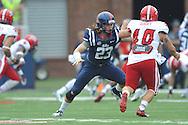 wMississippi Rebels linebacker Tayler Polk (23) vs. Louisiana-Lafayette at Vaught-Hemingway Stadium in Oxford, Miss. on Saturday, September 13, 2014.