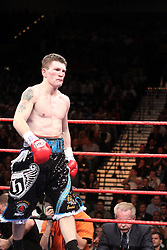 Ricky Hatton of England stalks the ring. Ricky Hatton v Paulie Malinaggi of USA during their Light-welterweight title fight at the MGM Grand Garden Arena on November 22, 2008 in Las Vegas, Nevada.