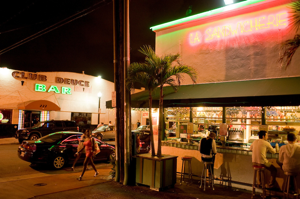 La Sandwicherie, 229 14th St, Miami Beach, FL 33139.Beste Sandwiches, Milkshakes..Florida 2009..Foto © Stefan Falke.