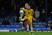 Jamie Mackie of Oxford United controls the ball under pressure during the EFL Sky Bet League 1 match between Southend United and Oxford United at Roots Hall, Southend, England on 6 October 2018.
