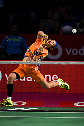 January 13, 2018 - Hyderbad, Telangana, India - Tai Tzu Ying of Ahmedabad Smash Masters in action during PBL 2nd Semi Final Bengaluru Blasters Vs Amhedabad Smash Masters (Credit Image: © Varun Kumar Mukhia/Pacific Press via ZUMA Wire)