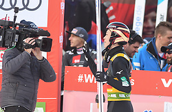 March 22, 2019 - Planica, Slovenia - Ryoyu Kobayashi seen reacting after his final jump during the FIS Ski Jumping World Cup Flying Hill Individual competition in Planica. (Credit Image: © Milos Vujinovic/SOPA Images via ZUMA Wire)