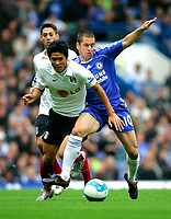 Chelsea v Fulham. Barclays Premier League. 29/09/2007. Seol Ki-Hyeon of Fulham and Joe Cole of Chelsea with the ball