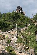 Stiege, Treppe zumSchlossberg und Uhrturm, UNESCO Welterbestätte Stadt Graz – Historisches Zentrum, Steiermark, Österreich | stairs to Schlossberg and clock tower, a UNESCO World Heritage Site city of Graz - Historic Centre, Steiermark, Austria