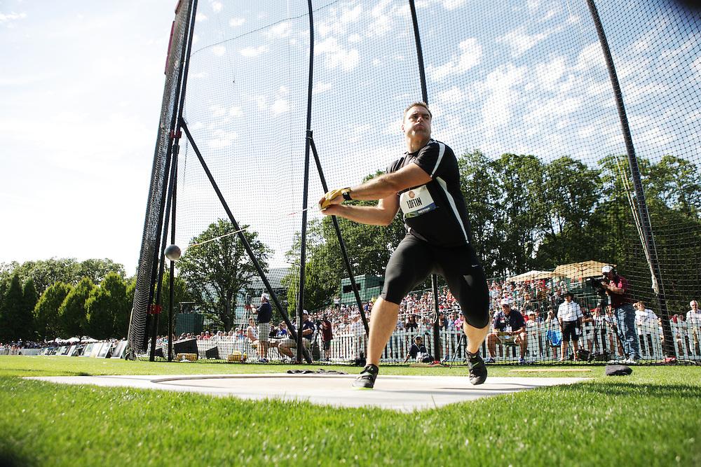 Olympic Trials - Hammer Throw, men Hammer throw at Nike Campus, Beaverton, Andrew Loftin