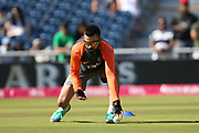 Virat Kohli (Capt) warms up during the International T20 match between England and India at Old Trafford, Manchester, England on 3 July 2018. Picture by George Franks.