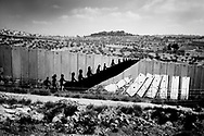 The separation wall goes thru the israeli/palestinian countries as a snake and a constant reminder of the state of the country.