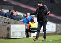MK Dons manager Dan Micciche during the Emirates FA Cup  Fourth Round match at  Stadium MK Milton Keynes