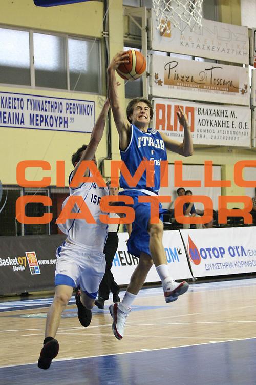 DESCRIZIONE : Rethimnon Crete Termosteps U16 European Championship Men Qualifying Round Israel Italy<br /> GIOCATORE : De Nicolao<br /> SQUADRA : Italy Italia Nazionale Italiana Uomini Under 16<br /> EVENTO : Rethimnon Crete Termosteps U16 European Championship Men Creta Europeo U16 Uomini <br /> GARA :  Israel Italy Israele Italia<br /> DATA : 26/07/2007 <br /> CATEGORIA : Tiro<br /> SPORT : Pallacanestro <br /> AUTORE : Agenzia Ciamillo-Castoria/M.Marchi <br /> Galleria : Europeo Under 16 <br /> Fotonotizia : Rethimnon Crete Termosteps U16 European Championship Men Qualifying Round Iseael Italy<br /> Predefinita :