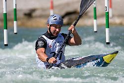 Igor TSVIET of Ukraine during the Kayak Single (MK1) Mens Semi Final race of 2019 ICF Canoe Slalom World Cup 4, on June 30, 2019 in Tacen, Ljubljana, Slovenia. Photo by Sasa Pahic Szabo / Sportida