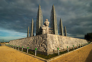 Monument in the Demilitarized Zone in Quang Tri, Vietnam, that once divided the countries of North and South Vietnam