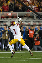SANTA CLARA, CA - DECEMBER 05:  Wide receiver Darreus Rogers #1 of the USC Trojans catches a pass against the Stanford Cardinal during the second quarter of the Pac-12 Championship game at Levi's Stadium on December 5, 2015 in Santa Clara, California. The Stanford Cardinal defeated the USC Trojans 41-22. (Photo by Jason O. Watson/Getty Images) *** Local Caption *** Darreus Rogers