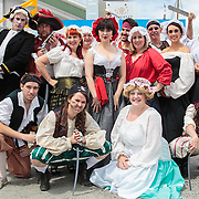 Gilbert and Sullivan Society, one of the many groups of performers at the Australian Wooden Boat Festival  (AWBF) 2013, Hobart, Tasmania