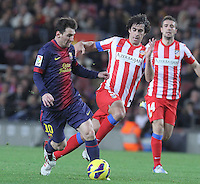 16.12.2012. Barcelona, Spain. La Liga day 16. after scoring during game FC Bracelona against Atletico Madrid at Camp Nou