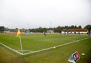 The Moatside Stadium before the The FA Cup match between Merstham and Oxford United at Moatside, Merstham, United Kingdom on 5 November 2016. Photo by Andy Walter.