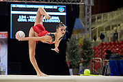 Elena Varallo from Moderna Legnano team during the Italian Rhythmic Gymnastics Championship in Padova, 25 November 2017.